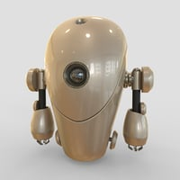 3D robot cartoon d model