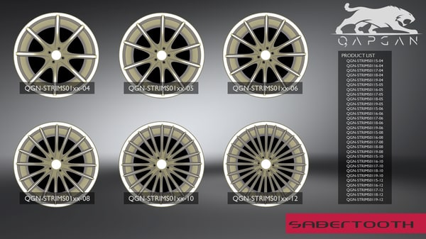 3D sabertooth qgn-strims01 modelling rim