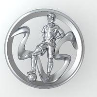 badge pendant 3D model