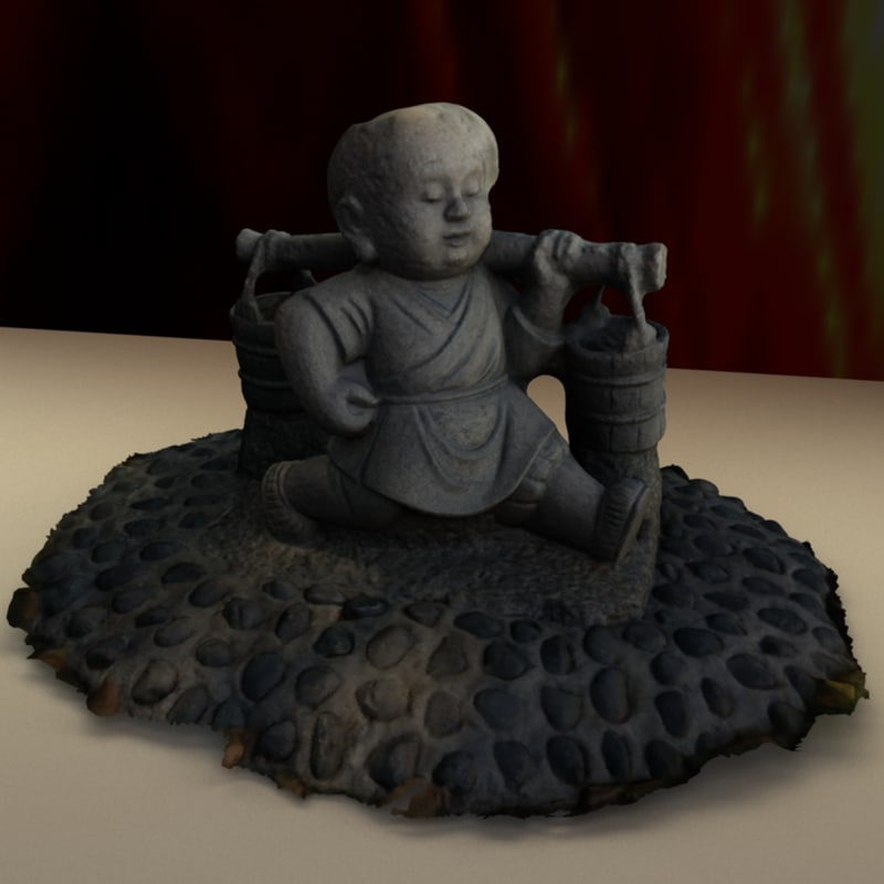chinese buddha kid model