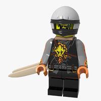 3D lego minifigure ninja