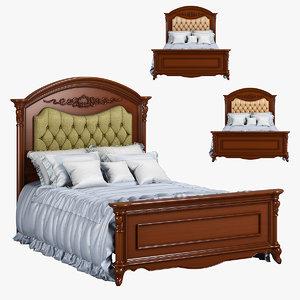 3D model 230-1 carpenter bed plan
