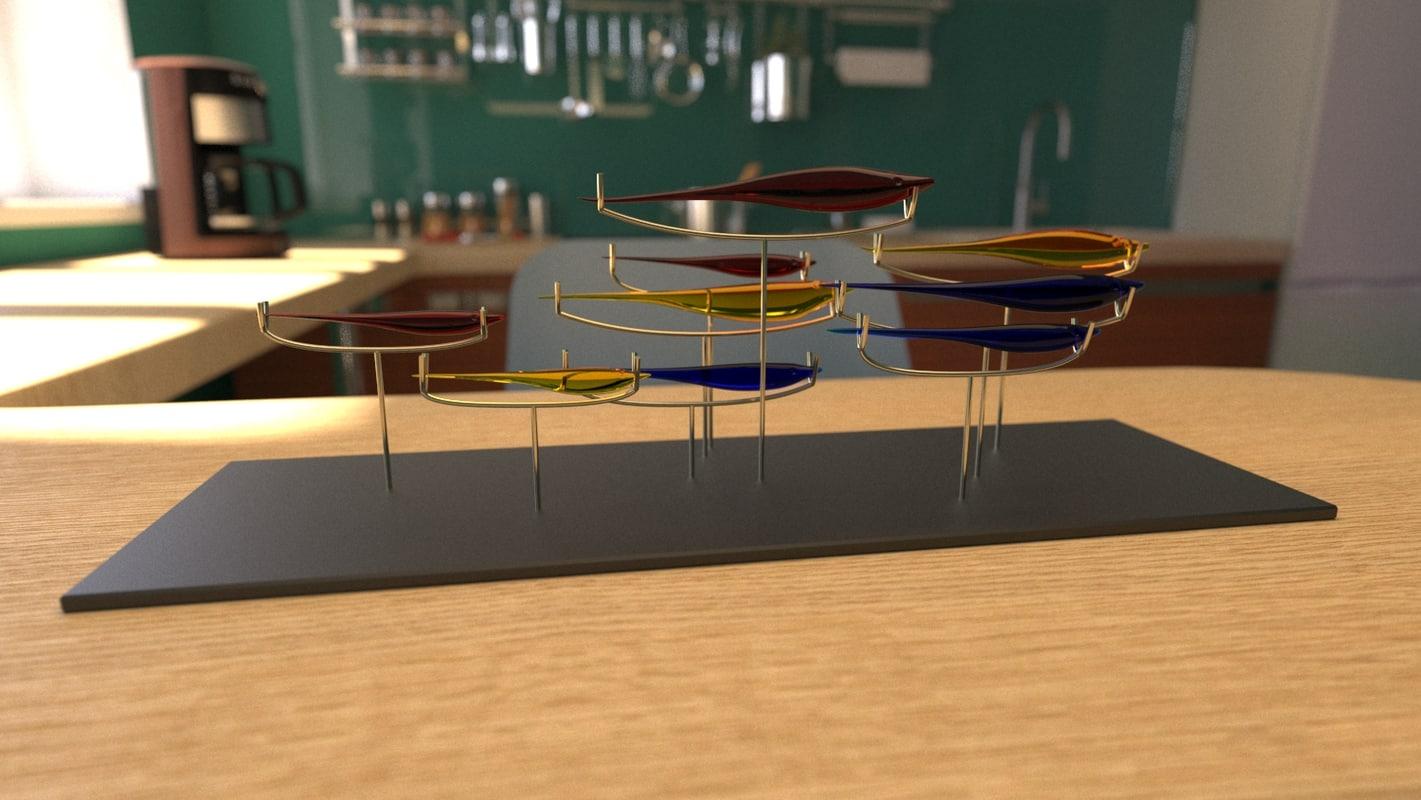 glass fish 3D model