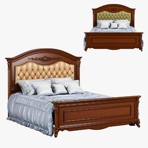 3D 230-1 carpenter bed plan model