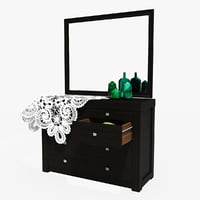 Commode with mirrore