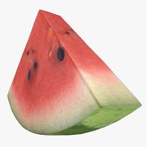 3D realistic watermelon slice