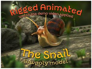 snail animation crawling model