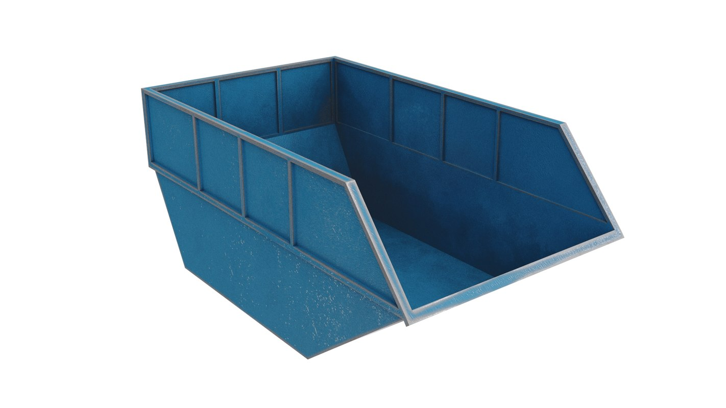 dumpster 3 colors 3D model