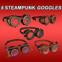 3D steampunk goggles copper
