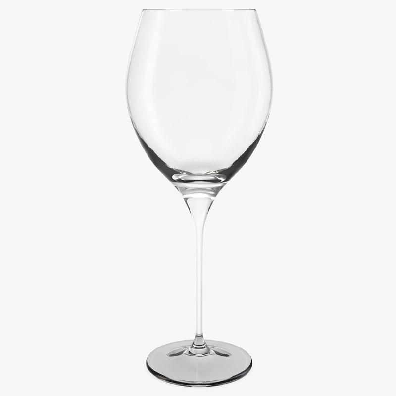 3D wine glass