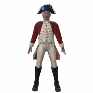 redcoat soldier british 3D model