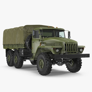 ural 4320 truck road model