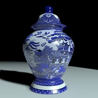3D vase chinese