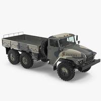 3D ural 4320 soviet cargo truck model