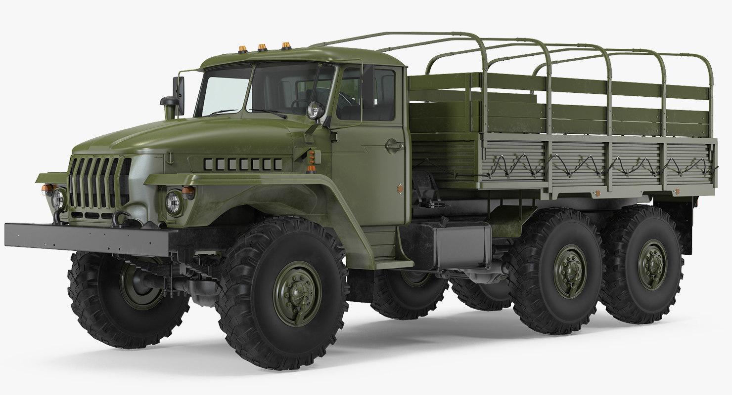 3D ural 4320 truck 6x6