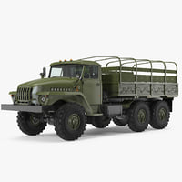 URAL 4320 Truck 6x6 Vehicle 3D Model