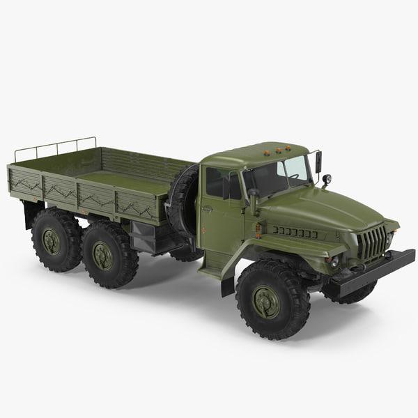 ural 4320 russian cargo 3D