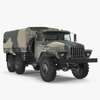 Military Truck URAL 4320 Russian