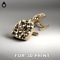 cufflink for 3D print