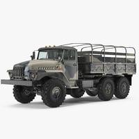 military truck ural 4320 3D model