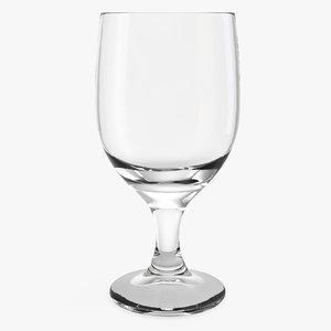 3D goblet glass