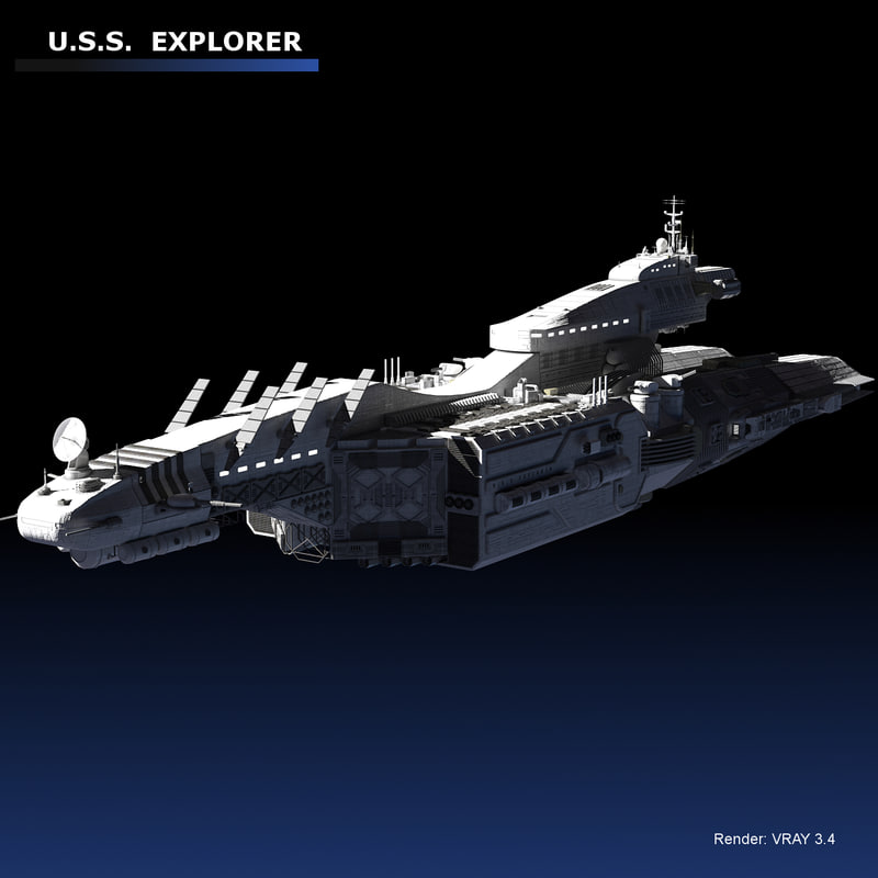 3D space explorer cruiser model