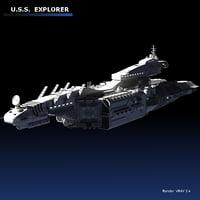 3D space explorer cruiser model