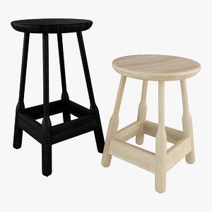 3D model albert stool