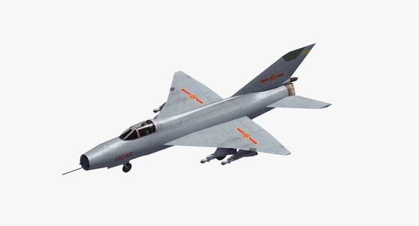 plaaf j-7 fishbed fighter 3D model