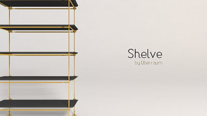 shelve modelled 3D