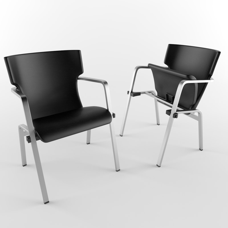 3D stackable chair