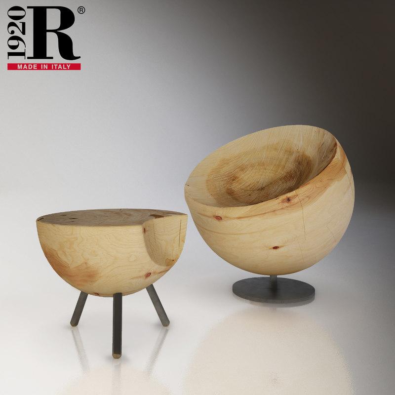 riva stool 3D