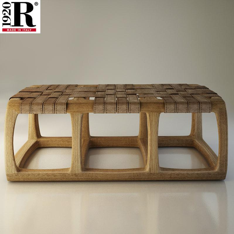 3D riva bench model