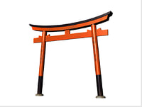 torii structural wooden model