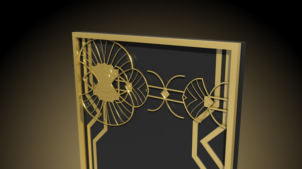 art deco pack 2 3D model