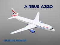 airbus a320 british airways model