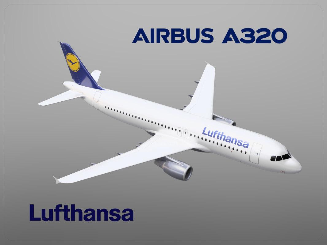 airbus a320 lufthansa 3D