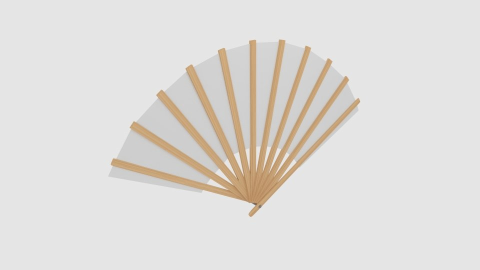 3D model japanese fan bokashi