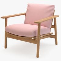 riva sofa 1 seater 3D model