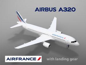 3D airbus a320 air france model