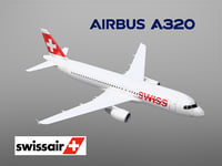 airbus a320 swiss air lines model