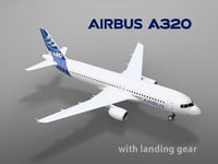 Airbus A320 with landing gear