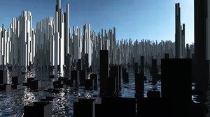 3D model cubic new york