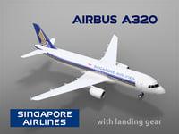 airbus a320 singapore landing gear 3D