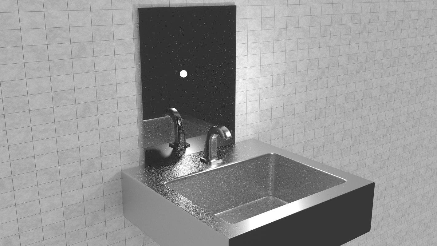 3D sink bathroom house model