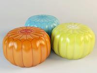 outdoor moroccan pouf 3D model