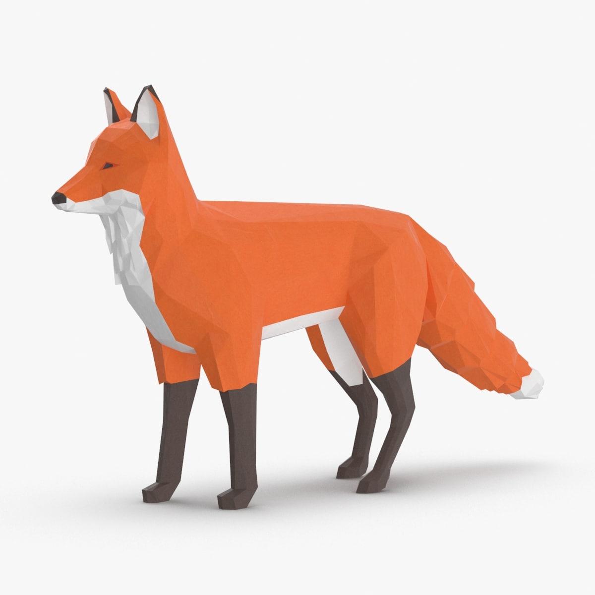 fox---stand 3D model