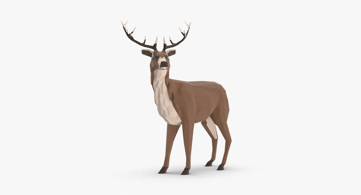 stag---standing 3D model