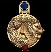 3D lion dragon
