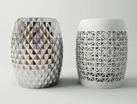 ceramic garden stools 3D